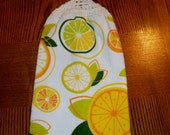 Hanging Hand Towel with Citrus Fruit Slices