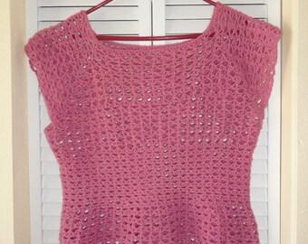 Webbed Crochet Tank Top