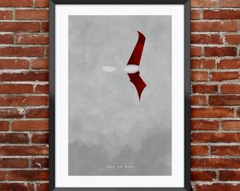 "God of War inspired print 11X17"""