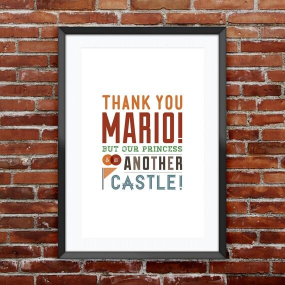 """Super Mario Bros. Video Game Quote Print 11X17"""""""