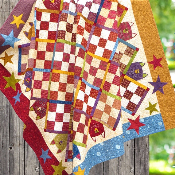 Scrappy Cats - Printed Quilt Pattern