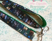 "Loki (Tom Hiddleston) 18"" Double Ribbon Lanyard with Lobster Clasp~ Support Non-Profit Teen Organization"