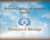Reserved listing for Natalie