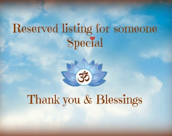 Reserved listing for Yi Ling