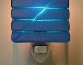 Light Blue Iridescent Glass Night Light
