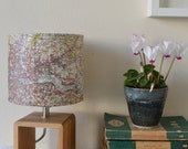 Vintage Map Lamp featuring London and the mouth of The Thames