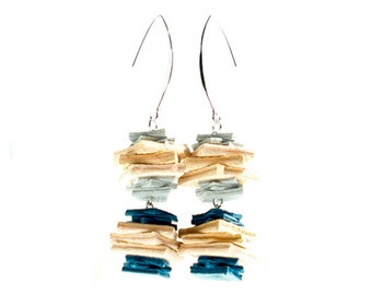 Genuine Leather Cut Out Dangling Earring