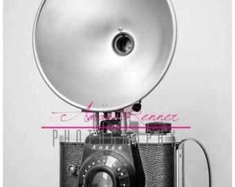 Fine Art Photography - 20x30 Canvas Gallery Wrap - Ansco Vintage Camera