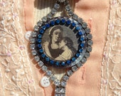 Mother Love. Embrace in Blue, necklace
