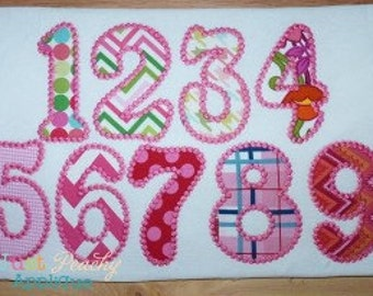 Candlewick Numbers Set Machine Embroidery Applique Design Use Coupon Code 50OFF