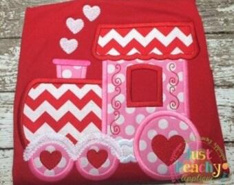 Love Train Machine Embroidery Applique Design