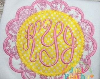 Scallop Candlewick Frame Machine Embroidery Applique Design Buy 2 for 4! Use Coupon Code 50OFF