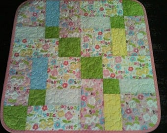 "A Pastel Delight In This 23"" X 23"" Preemie or Doll Quilt Done In The Scribbles Line By Windham Fabrics"