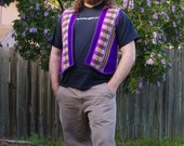 Men's Purple Peruvian Vest made with 100% Recycled fabrics - Size Large