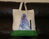 Shopping Bag,FAT CAT BAG,Calico bag,tote bag,new handmade with appliqued cat in hand dyed fabric,