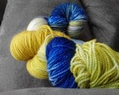 "25% OFF! - Sock Yarn - ""Zeus"" - Olympian Series - Sparkle - 438 yards Superwash Merino Nylon"