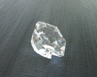 Herkimer Diamond Genuine from NY 1 Raw Crystal 20mm x 19mm / 28.5 Carats Natural Rough Stone from Upstate New York for Jewelry (Lot 8297)