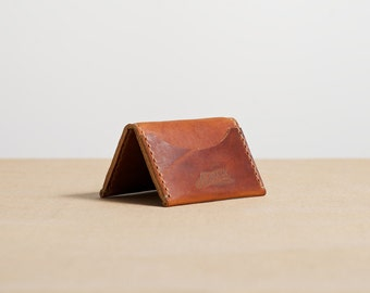 Three Pocket Folded Wallet - Distressed English Tan
