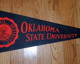 Oklahoma State University Oklahoma A&M Vintage Felt Pennant