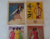 Set of 9 McCall's and Simplicity Fashion News Booklets 1960s thru 1970s