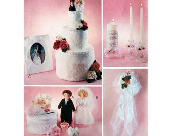 Towel Wedding Cake Bride and Groom Other Wedding Crafts Pattern McCall's 2725