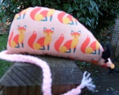 Coral Fox Catnip Mouse - Handmade Cat Toy with extra strong catnip