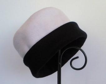 Lavender Fleece Hat, Fleece Hat, Roll Brim Hat, Soft and Warm Hat, Black Hat, Purple Hat