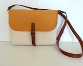 Free Express Shipping - Mini  Canvas Messenger Bag/  Small Canvas Bag / crossbody strap / crossbody bag