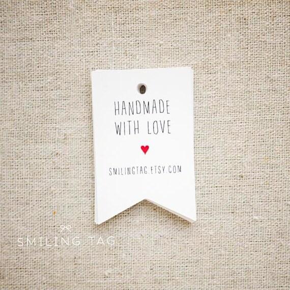 Handmade Wedding Gift Tags : Handmade with Love Personalised Gift TagsWedding Favor TagsThank ...