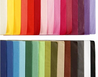 Coloured Tissue Paper - A4 x 300 Sheets - 10 Assorted Colours - Craft Supply - Decorate Gift Wrap