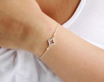 Cubic Zirconia Clover Bracelet