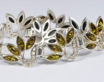 Baltic Amber Bracelet  Sterling Silver Bracelet Gemstone Jewelry Amber Bracelet