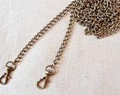 2 pcs 120cm Antique bronze chain / Purse chain / Bag chain
