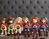 Kumamon Dresses  for your doll suitable for Lati Yellow / Pukifee