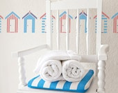 Beach Huts Stencil from The Stencil Studio. Reusable, easy to use. Size 10 x 3.5 inches. 10015S