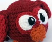 Red Owlet Stuffed Animal