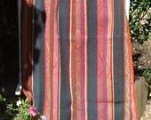 Vintage Bolivian Frazada/Frasada blanket, Aymara weaving, Quechua Phullu, Cama, Andean rug,Throw blanket