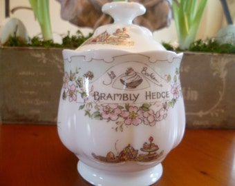 Brambly Hedge Royal Doulton Marmalade Pot - boxed- from the breakfast and teatime series- 1st quality