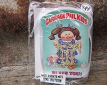 Vintage Garbage Pail Kids BLESS You! gpk Card Button Pin Back Plastic Card Topps 1986 Unopened Gag Gift Party 80s GPK Collectible 1980s VTG