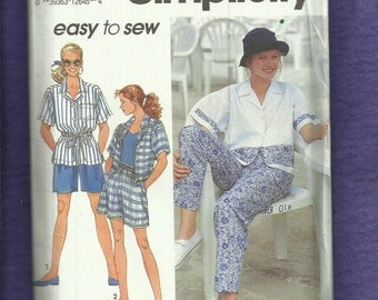 Simplicity 7857 Easy Breezy Fun in the Sun Outfits  Size 10 to 16 UNCUT