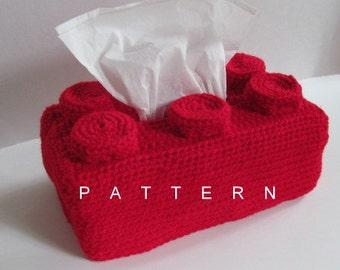 Crochet Building Block Tissue Box Pattern