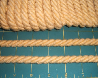 6mm wide Gold Cotton Upholstery Cord x one yard