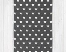30 colours, STARS Pattern Area Rug 2x3, Charcoal Floor Rugs 3x5, Charcoal Black and Cream Geometric 4x6 rug, 5 pointed star Rug, Nursery Rug