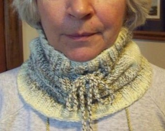 Hand Knit Neck Warmer - Pearl Frost - Machine washable