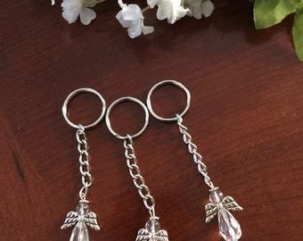 Wedding favors,key chain,baptism favors,key ring holder,communion favors Crystal Angel,Swarovski Crystal angel,best friend gift, key holder