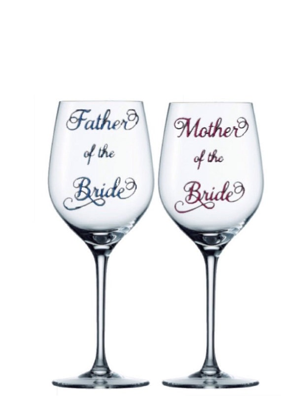 How Many Wine Glasses For Wedding Gift : ... wine glass- Father of the bride glass- Wedding Party Gift- Wedding