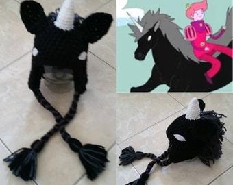 Crochet Lord Monochromicorn Beanie/Hat (Adventure Time)