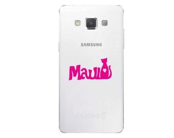 Maui Cat Cell Phone Decal Pet Feline Sticker