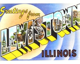 Greetings from Lewistown Illinois Fridge Magnet