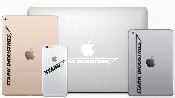Stark Industries Macbook Decal & iPad Decal